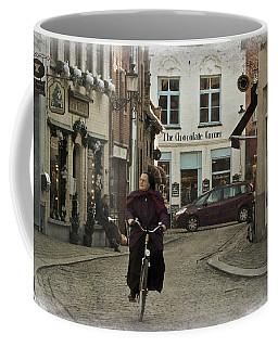 Nun On A Bicycle In Bruges Coffee Mug