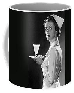 Nurse Carrying A Glass Of Milk Coffee Mug