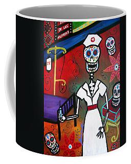 Nurse Dia De Los Muertos Coffee Mug