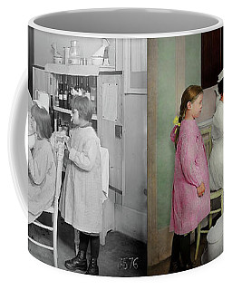 Coffee Mug featuring the photograph Nurse - Playing Nurse 1918 - Side By Side by Mike Savad