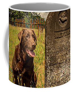 Coffee Mug featuring the photograph Nute In The Cemetery by Jean Noren