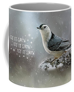 Nuthatch In Winter Holiday Card Coffee Mug