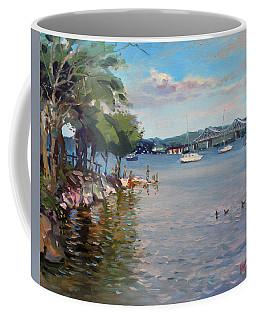 Nyack Park By Hudson River Coffee Mug
