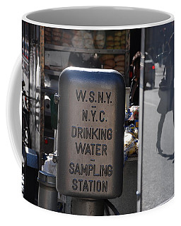 Coffee Mug featuring the photograph Nyc Drinking Water by Rob Hans