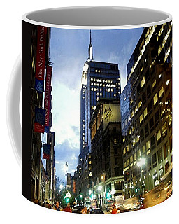 Nyc Fifth Ave Coffee Mug by Vannetta Ferguson