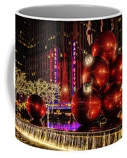 Coffee Mug featuring the photograph Nyc Holiday Balls by Chris Lord
