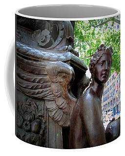 Nyc Library Angel Coffee Mug by Susan Lafleur