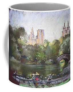 Nyc Resting In Central Park Coffee Mug