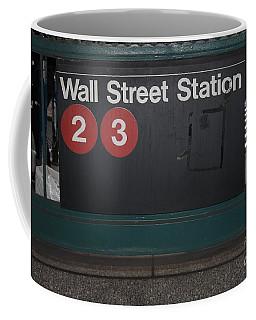 Nyc Wall Street Subway Entrance Coffee Mug