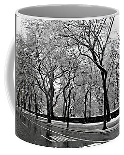 Nyc Winter Wonderland Coffee Mug by Vannetta Ferguson