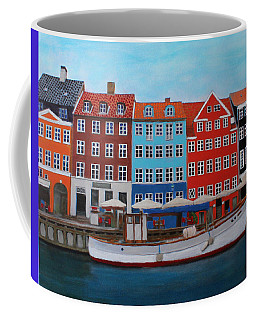 Coffee Mug featuring the painting Nyhavn Copenhagen by Deborah Boyd