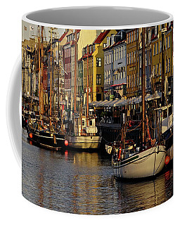 Coffee Mug featuring the photograph Nyhavn Morning - 365-236 by Inge Riis McDonald