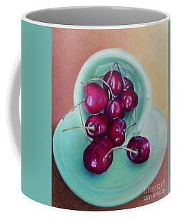 Coffee Mug featuring the painting O-cherry by Pamela Clements