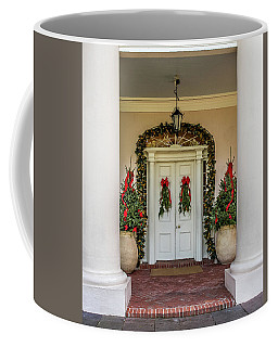 Coffee Mug featuring the photograph Oak Alley Plantation Doors by Paul Freidlund