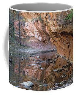 Coffee Mug featuring the photograph Oak Creek Reflections - Sedona, Az by Sandra Bronstein