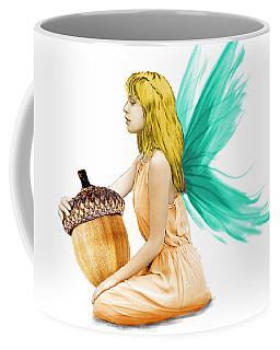 Oak Tree Fairy Holding Acorn Coffee Mug