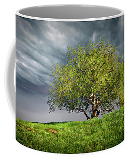 Oak Tree With Tire Swing Coffee Mug