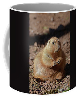 Obese Prairie Dog Sitting In A Pile Of Dirt Coffee Mug by DejaVu Designs