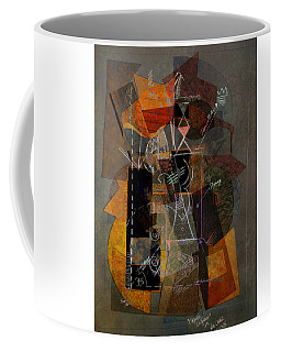 Objects In Space With Gold Coffee Mug