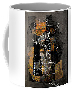 Objects In Space With Ochre Coffee Mug