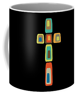 Coffee Mug featuring the digital art Oblong Cross by Donna Mibus