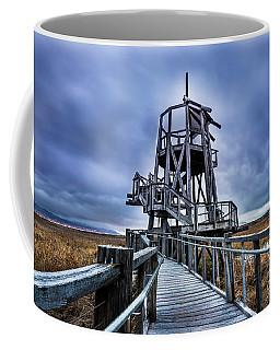 Observation Tower - Great Salt Lake Shorelands Preserve Coffee Mug by Gary Whitton