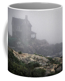 Coffee Mug featuring the photograph Ocean Avenue House In Fog by Samuel M Purvis III