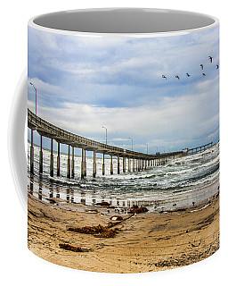 Ocean Beach Pier Fishing Airforce Coffee Mug