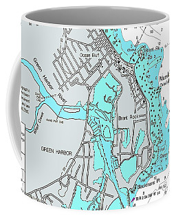 Ocean Bluff And Brant Rock Coffee Mug