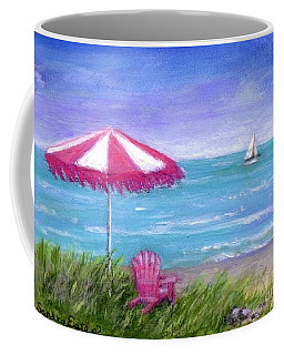 Coffee Mug featuring the painting Ocean Breeze by Sandra Estes