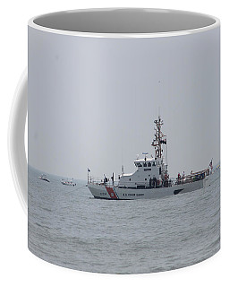 Coffee Mug featuring the photograph Ocean City's Us Coast Guard On Patrol by Robert Banach