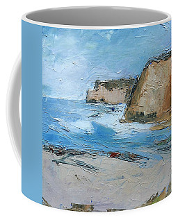 Coffee Mug featuring the painting Ocean Cliffs by Gary Coleman