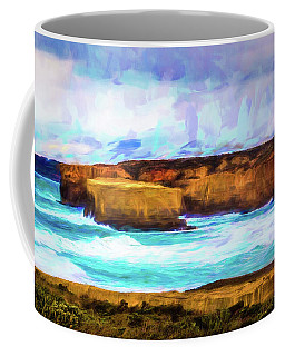 Coffee Mug featuring the photograph Ocean Cliffs by Perry Webster