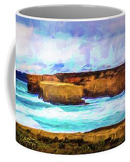 Ocean Cliffs Coffee Mug by Perry Webster