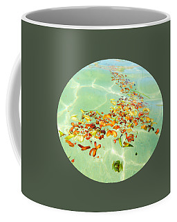 Coffee Mug featuring the photograph Ocean Flowers Oval by Linda Hollis