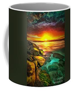 Ocean Lit In Ambiance Coffee Mug