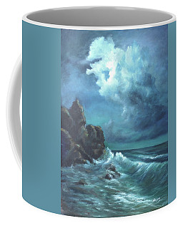 Seascape And Moonlight An Ocean Scene Coffee Mug