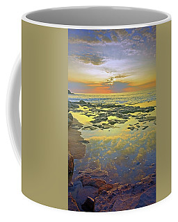 Coffee Mug featuring the photograph Ocean Puddles At Sunset On Molokai by Tara Turner