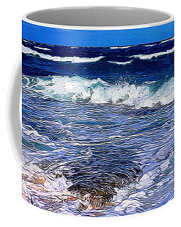 Ocean Scene In Abstract 14 Coffee Mug
