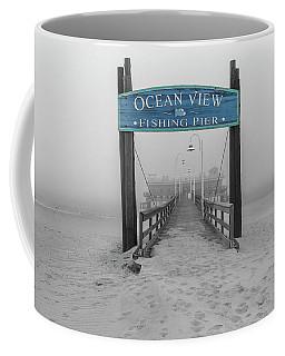 Ocean View Pier Partial Color Coffee Mug