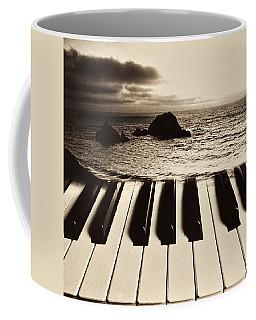 Ocean Washing Over Keyboard Coffee Mug