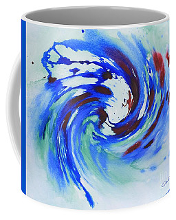 Ocean Wave Watercolor Coffee Mug
