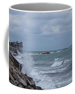 Ocean Waves At Minot Beach Coffee Mug