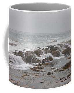 Ocean Waves Over Rocks Coffee Mug