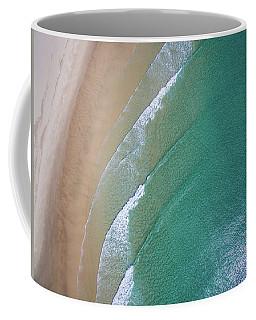 Ocean Waves Upon The Beach Coffee Mug