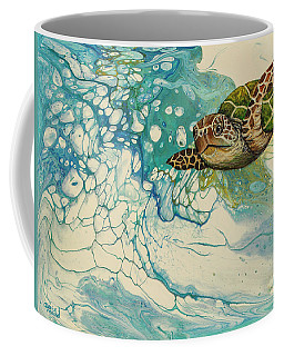 Coffee Mug featuring the painting Ocean's Call by Darice Machel McGuire