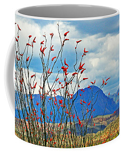 Ocotillo And Chisos Mug Coffee Mug by Bob Zeller