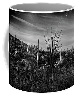 Ocotillo And Saguaros Coffee Mug