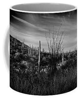 Ocotillo And Saguaros Coffee Mug