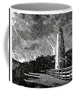 Coffee Mug featuring the painting Ocracoke Island Lighthouse II by Ryan Fox